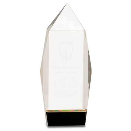 Faceted Crystal Recognition Award - Medium