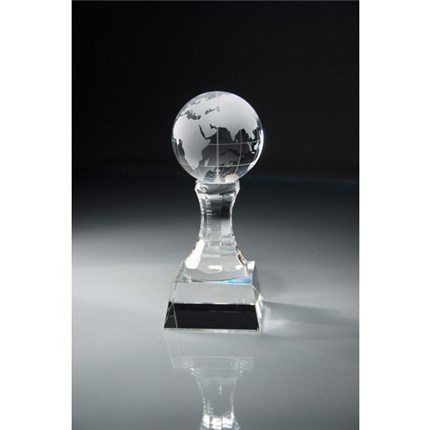 CLEAR CRYSTAL AWARD - GLOBE