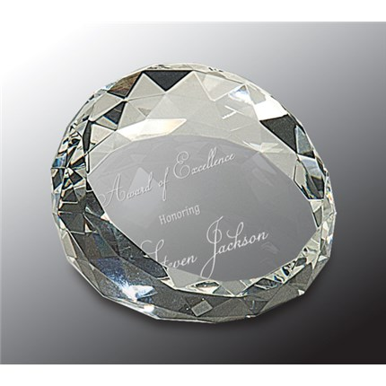 PREMIER CRYSTAL PAPERWEIGHTS - MEDALLION