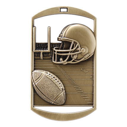 3D Dog Tags Series - Football