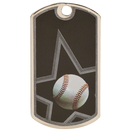Star Dog Tags Series - Baseball