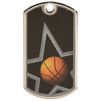 Star Dog Tags Series - Basketball