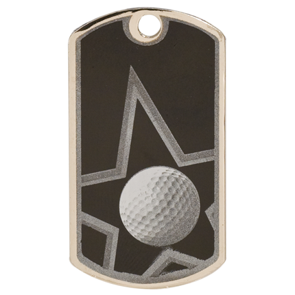 Star Dog Tags Series - Golf