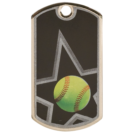 Star Dog Tags Series - Softball