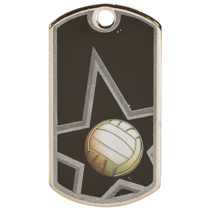 Star Dog Tags Series - Volleyball