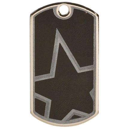 Star Dog Tags Series - Blank Star
