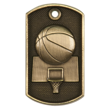 3d Dog Tags Series - Basketball