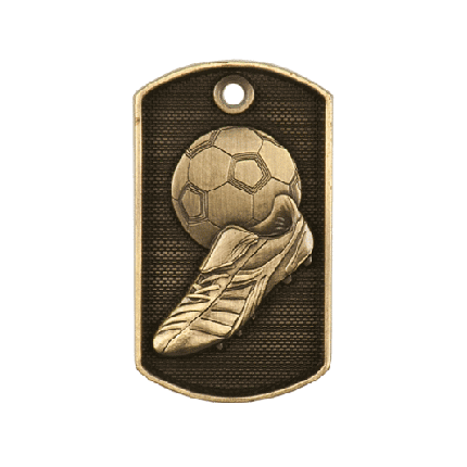 3d Dog Tags Series - Soccer
