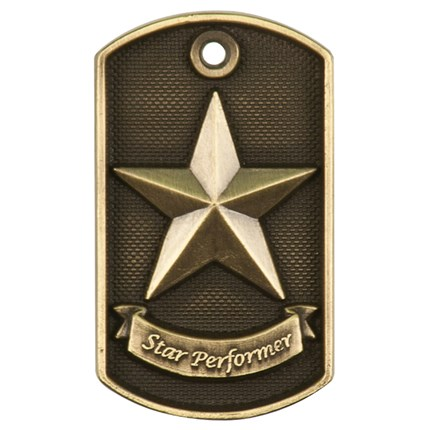 3d Dog Tags Series - Star Performer
