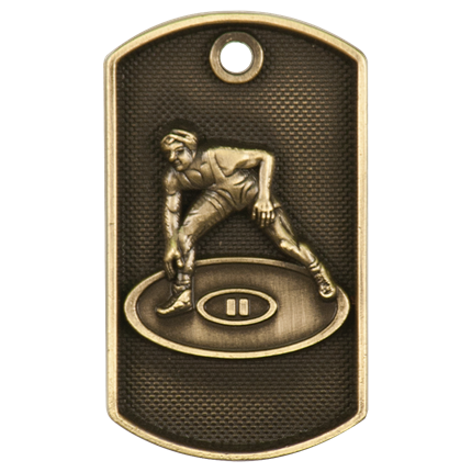 3d Dog Tags Series - Wrestling