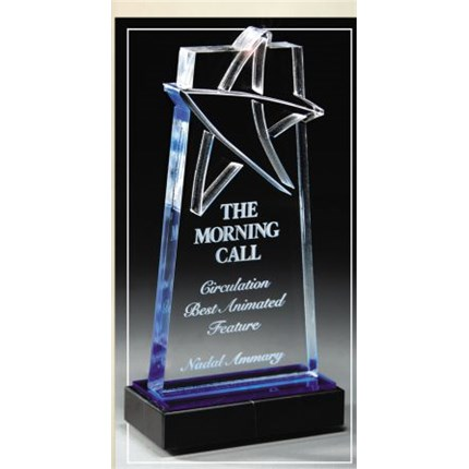 Laser Blue Star Accent Recognition Award