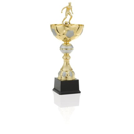 Ec-1338 Gold And Silver Soccer Series - Semi-Metal Cup