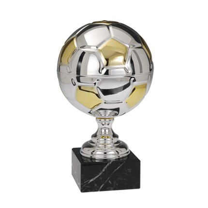 Ec-1540 Silver And Gold Soccer Series - Full-Metal Cup