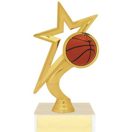 Gold Star Figure Trophy Series - Basketball