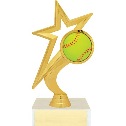 Gold Star Figure Trophy Series - Softball