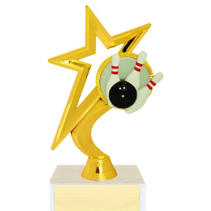 Gold Star Figure Trophy Series - Bowling
