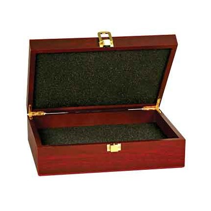 ROSEWOOD FINISH GIFT BOXES - WITH BLACK VELVET LINING