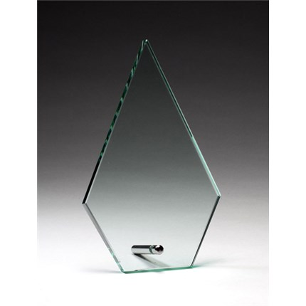 GLASS PIN AWARD - CLEAR ARROWHEAD