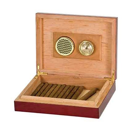 ROSEWOOD PIANO FINISH HUMIDOR - CIGAR BOX