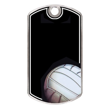 LASER ENGRAVED BLACK BEAUTY DOG TAG - VOLLEYBALL