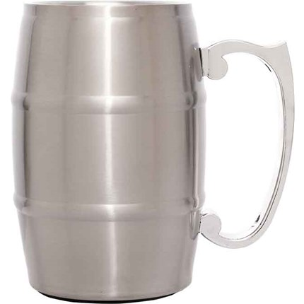 METAL BARREL MUGS WITH HANDLES