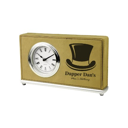 LASERABLE LEATHERETTE ITEMS - CLOCK