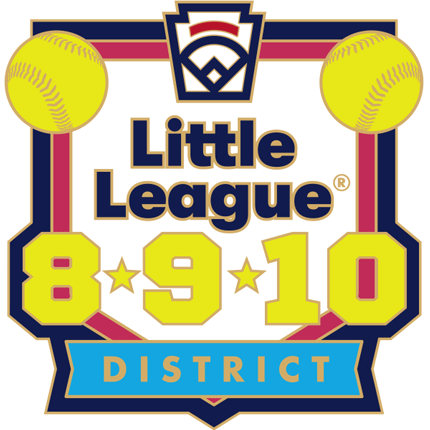 8-9-10 Year Old Softball Pin Series - District - New Logo