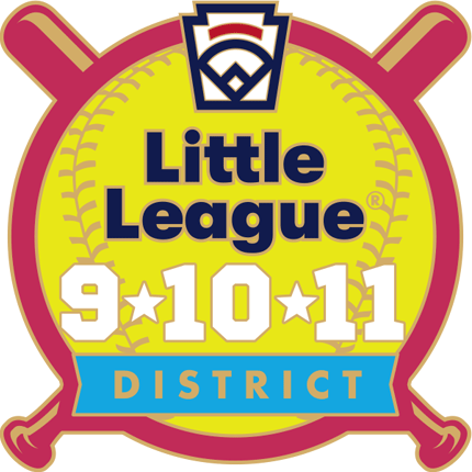 9-10-11 Year Old Softball Pin Series - District - New Logo