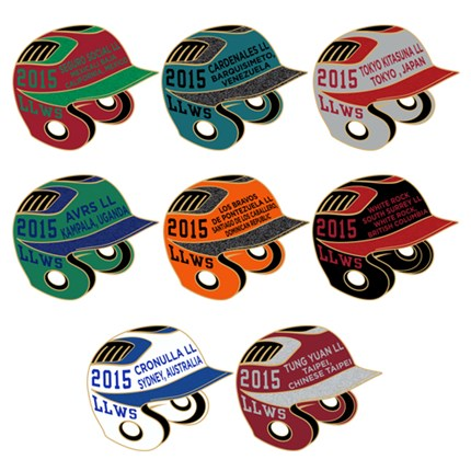 LITTLE LEAGUE WORLD SERIES-INTL. HELMETS SET - 2015