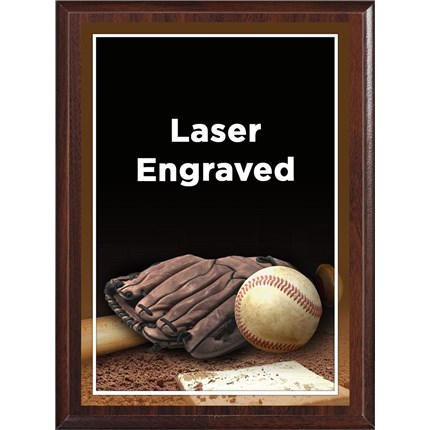 Laser Plaque Series - Baseball