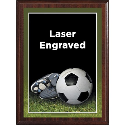 Laser Plaque Series - Soccer