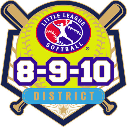 8-9-10 Year Old Softball Pin Series - District