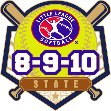 8-9-10 Year Old Softball Pin Series - State