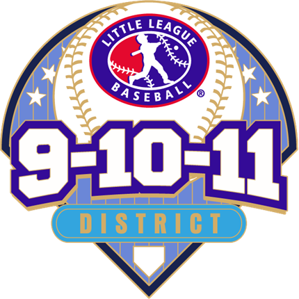 9-10-11 Year Old Baseball Pin Series - District