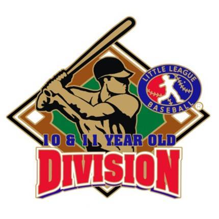 10 & 11 Year Old Baseball Pin Series - Division