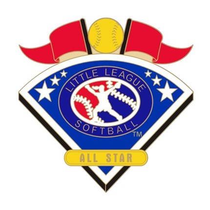 Little League Softball Tournament Pin Series - All Star