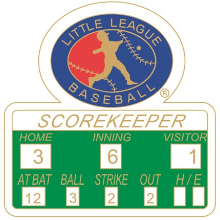 Little League Baseball Pin Series - Scorekeeper