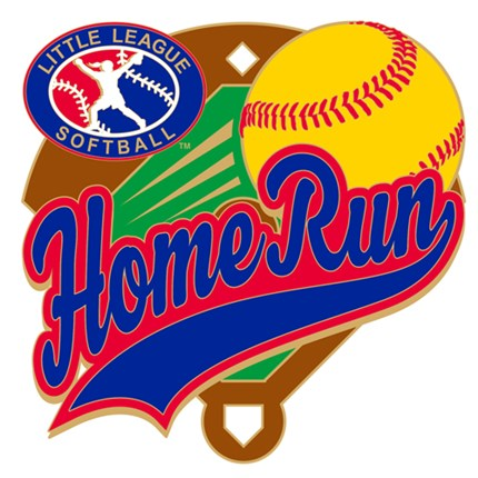 Little League Softball Pin Series - Home Run