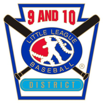 9 & 10 Year Old Baseball Pin Series - District