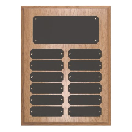 Oak Finish Plaque Series -  Perpetual