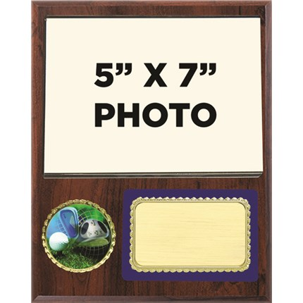 Golf Plaque Award with Photo