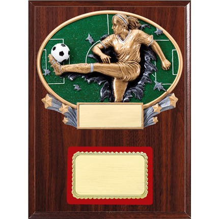 Resin Plaque Series - Soccer, F