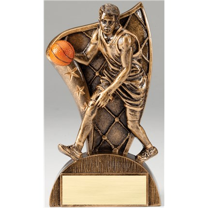BRONZE FLAG RESIN SERIES - BASKETBALL