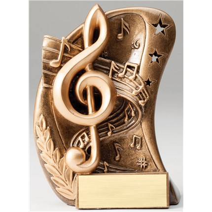 BRONZE CURVE RESIN SERIES - MUSIC