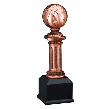 BRONZE RESIN COLUMN SERIES - BASKETBALL