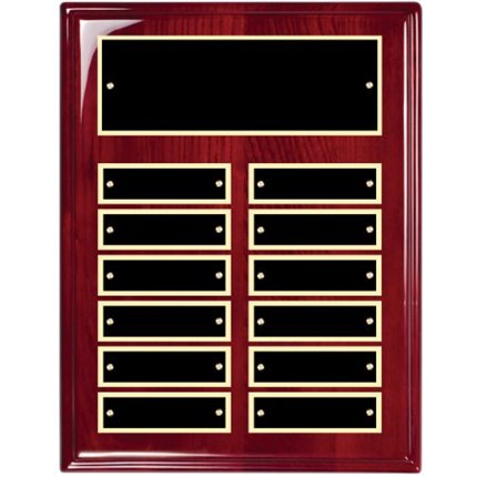 Rosewood Piano Finish Perpetual Plaque Series