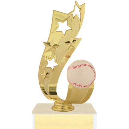 Offset Ribbon Trophy Series - Baseball