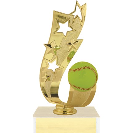 Offset Ribbon Trophy Series - Softball