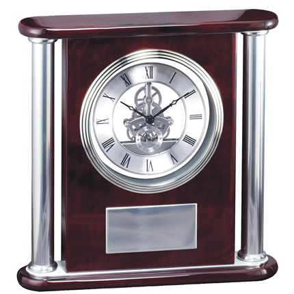 CLOCK - ROSEWOOD PIANO FINISH AND ALUMINUM