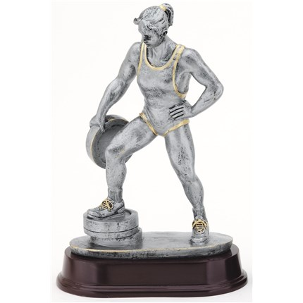 ANTIQUE ACTION RESIN SERIES - WEIGHTLIFTING, F
